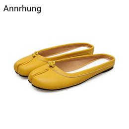 $enCountryForm.capitalKeyWord Australia - Candy Color Cover Toe Flip Flops Women Unique Split Toe Slingback Summer Lazy-man Shoes Casual Flat Slippers De Mujer