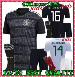 ba9aebea504 2019 Mexico Kids kit Soccer Jerseys A.GUARDADO 19 20 Mexico CHICHARITO  Jersey H.LOZANO Football Shirt CARLOS V Mexico Kids Jersey