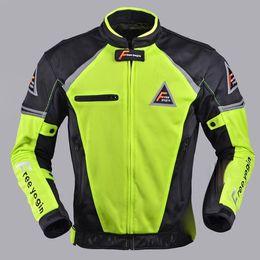 Jackets Motorcycles Nylon Australia - New arrival motorcycle summer air flow mesh jacket FREE YOGIN reflective green