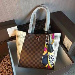 $enCountryForm.capitalKeyWord NZ - 2019 M42292 Scarf Real Calfskin New Brown Fashion Shoulder Bags Shopping Bag Hobo Handbags Top Handles Boston Cross Body Messenger Shoulder