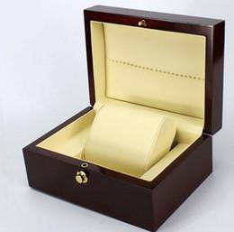 Painting Wood Jewelry Australia - Fashion Brand Wine Red Spray paint watch box luxury wood watch box with pillow package case watch Jewelry storage gift box