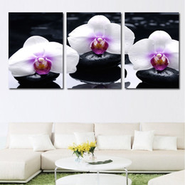 Wedding Canvas Prints Australia - Painting Picture Modern Frame 3 Pieces Pcs Butterfly Flower HD Printed Wedding Decoration For Living Room High Quanlity Canvas