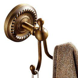 Brackets material online shopping - Wall bracket bronze material coat hook double towel hook bathroom accessories