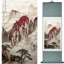 Chinese Floral Paintings Australia - Landscape Painting Home Office Decoration Chinese Scroll Painting Mountain And River Painting1906101540