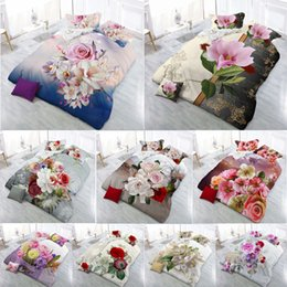 White Bedding Sale Australia - Hot Sale 2018 New 3D Bedding Sets Reactive Print Flowers Pattern Quilt Cover Bed Sheet Pillow Case 4PCS