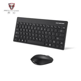 wireless keyboards colors 2019 - Motospeed 2.4G Wireless Keyboard And Mouse Combo Black Pink 2 Colors USB 2.0 1000 1600DPI Mouse Ergonomics 104 Keys 10 M