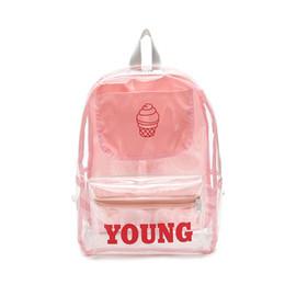 8a71506d5bc7 good quality Summer Transparent Backpack Women 2019 Cute Letter High  Capacity Girl Backpack For School Mochila Feminina Women Backpacks