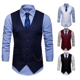 Men s suit accessories online shopping - Mens Sleeveless Suit Vest European Size Men s Accessories with A Nightclub Blazer