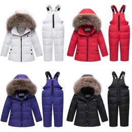 $enCountryForm.capitalKeyWord Australia - baby boy Ski suits Winter Children Clothing Sets Warm Snowsuits For Girls down Jackets Outerwear Coat Suspender Jumpsuit