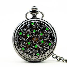 $enCountryForm.capitalKeyWord Australia - Vintage Pocket Skeleton Steampunk 6 pieces Mechanical Hand Wind Pocket Watch Roman Numerals Pendant Unisex Fob Watch