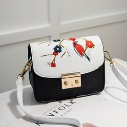 Color Leather Bags Australia - Bags High Quality PU Leather Solid Color Shoulder Bag Mom Causal Crossbody Women Embroidery Handbags
