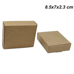 kraft jewelry gift boxes UK - Brown 8.5x7x2.3cm Kraft Paper Gift Crafts Party Favor Box for Birthday Cardboard Jewelry Craft DIY Box Carton Kraft Paper Packaging Pack Box