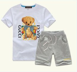christmas clothes Australia - 696115 New HOT SELL classic children's wear boy 2-11 years old girl sports suit baby baby short sleeved clothes children's suit ACDE AAAAAA3
