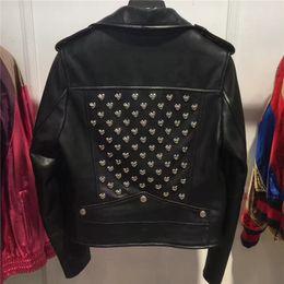 lady genuine sheep leather blazer garment women real sheep leather jacket plus size 5XL on Sale