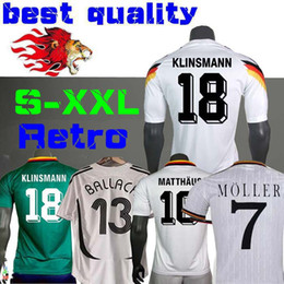 1990 1994 1988 Alemanha Versão retro Littbarski BALLACK Camisa de futebol KLINSMANN Matthias em casa longe de 2014 camisas KALKBRENNER JERSEY 1996 S-XXL
