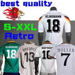 0d1d8a7f9b4 1990 1994 1988 Alemanha Versão retro Littbarski BALLACK Camisa de futebol  KLINSMANN Matthias em casa longe de 2014 camisas KALKBRENNER JERSEY 1996  S-XXL
