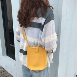 leather bags for women wholesale NZ - Small shoulder bag for women pu leather Female crossbody messenger bag mini Sling casual phone purse handbag yellow wallet