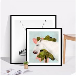 $enCountryForm.capitalKeyWord Australia - Simple Solid Wood Photo Home Decoration Family Living Room Square Wall Mounted Picture Frame 5 7 8 10 12 Inch J190716