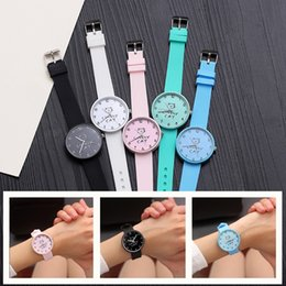 $enCountryForm.capitalKeyWord Australia - Fashion Cute Cat Girl Watch for Children Students Clock boy Watches for kids Christmas gift child Wristwatches Relogio Kol Saati
