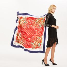 $enCountryForm.capitalKeyWord NZ - 2018 winter new 130CM*130cm cashmere scarf female five-pointed star red cold warm super large women printing shawl