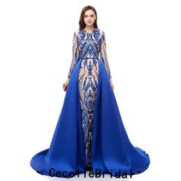 Weddings & Events Royal Blue Mermaid Red Carpet Women Celebrity Dresses Sexy V-neck Pleat Ruffles Abiye Gece Elbisesi Abendkleider 2019