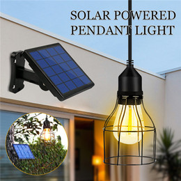 Outdoor Sheds NZ - Outdoor Hanging Solar Powered Shed Light Pendant Lamp for Garden Yard Patio Balcony Home Landscape