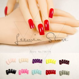 false nail colours UK - Fashion Long False Nails Colour Fake Nails Sexy Choice For Party 2019