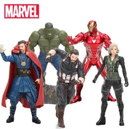 Minecraft Toys NZ - 17-20cm Marvel Toys Avengers 3 Infinite War Figure Captain Hulk Ironman Thor Doctor Strange Wonder Woman Collectible Model Doll Y190604