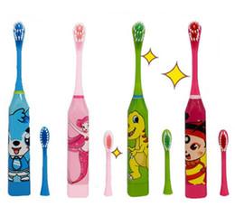 $enCountryForm.capitalKeyWord Australia - Children Electric Toothbrush Oral Hygiene Massager Washing Gift Doraemon Cartoon Ultrasonic with 2 brush heads Children's Toothbrushes 1PCS