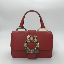 Leather bag hand strap online shopping - Designer handbags New Fashion Women Leather Tote Bag Handbag with Top Hand and Strap with Shine Diamond