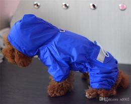 $enCountryForm.capitalKeyWord Australia - Windbreak Pet Dog Clothes Pure Color Waterproof Doggy Raincoat Conjoined Rainwear Cool Spring And Summer Hooded Cap 11 64mxb1