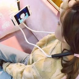 Kreativer fauler Studentenflut hängender einfacher beweglicher Netz des Halshandy-Haltewinkels rotes live selfie Videoklammerstudent