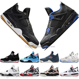 $enCountryForm.capitalKeyWord NZ - Athletic Newest Bred 4 4s What The Cactus Jack Laser Wings Mens Basketball Shoes Denim Blue Pale Citron Men Sports Designer Sneakers 36-47