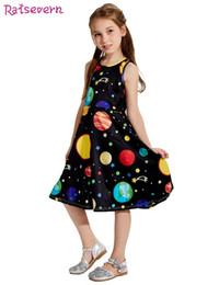 $enCountryForm.capitalKeyWord Australia - Summer Baby Girl Dress Fashion Kids Dresses Girls Cartoon Sun Moon Earth Stars Outer Space Starry Sky Print Children Clothing Y19061701