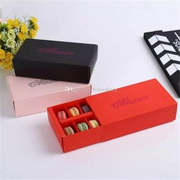 Cupcakes Types Australia - 12 Cups Macaron Box Packaging Drawer Type Biscuit Pastry Chocolate Cake Boxes For Wedding Party Gift bb754-461 2018020906