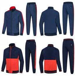 High Quality Embroidery Australia - Fashion devise Men's Tracksuits Golden embroidery Jogger sportswear 2pcs Outdoor Sport Suit Mens Jacket Brand Clothing High Quality New