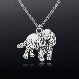 $enCountryForm.capitalKeyWord NZ - Vintage Cavalier King Charles Spaniel Charm Pendant Stainless Steel Chain Necklace Women Colar Boho Dog Charms Men Necklaces Party Gifts