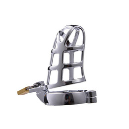 $enCountryForm.capitalKeyWord Australia - New Stainless Steel Cock Cage Male Chastity Device with 4 Penis Ring Size Virginity Lock Adult BDSM Sex Toy For Men