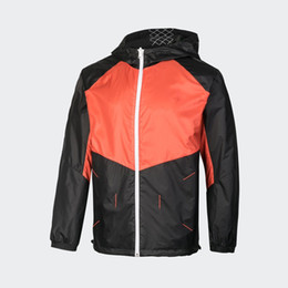 two color men s jacket Canada - Wholesale Two Sides Used Designer Windbreaker Brand Print Men Jackets Casual Patchwork Outerwear New Hot Running Coats CE98261