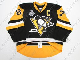 Quick Cup Australia - Cheap custom CROSBY PITTSBURGH PENGUINS HOME 2016 STANLEY CUP JERSEY stitch add any number any name Mens Hockey Jersey XS-5XL