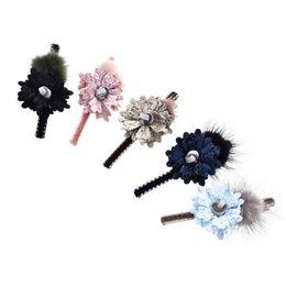 $enCountryForm.capitalKeyWord UK - Korean Style Soft Fur Floral Hair Clips For Women Fashion Pompom Hairpin Bows Hair Accessories For Girls Hair Grip Headdress