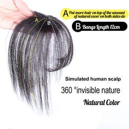 $enCountryForm.capitalKeyWord Australia - Remy 3D Air Bangs Human Hair #2 Darkest Brown Clip in Hair Piece Invisible Natural Clip on Hair Bangs