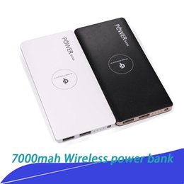 Mah Power Bank Charger Dual Usb Australia - QI 7000 mAh Wireless Power Bank Portable Wireless Charger with Dual USB External Battery Pack for iPhone 8 X Samsung S8 Note 8 with package