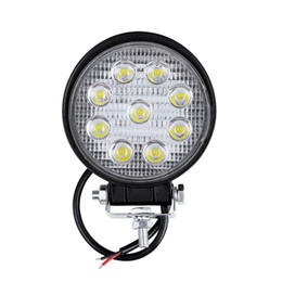 $enCountryForm.capitalKeyWord UK - 10pcs Round 27W LED WORK LIGHT Car Driving lights 24V 12V Led Tractor Work Lights Off Road 4X4 Car ATV Boat OFF ROAD Spot Beam Fog Lamp