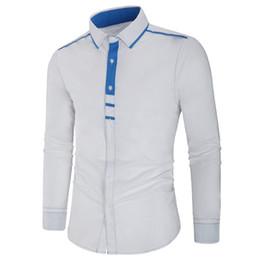 Batik dress design online shopping - Foreign trade new cotton quality men s long sleeved shirt personality threshold design stitching shirt