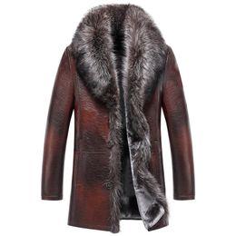 $enCountryForm.capitalKeyWord UK - Winter Fur Genuine Leather Jacket Mens Winter Coats Real Fur Collar Thicken Warm Outerwear Windbreaker 2019 High QUality M-5XL