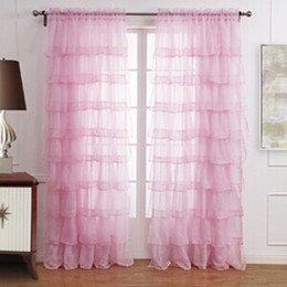 princess curtains Australia - 2018 Top Fashion Real Cortina Curtains European Sheer For Bedroom Sweet Lotus Leaf For Princess Living Room Tulle Panels