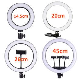 Großhandel Handy Selfie Ring-Licht-16/20/26 / 45cm Dimmbare LED Fotografie Make-up-Ringlicht für YouTube Shooting Fülllichter Ringförmige Schönheit Lampen