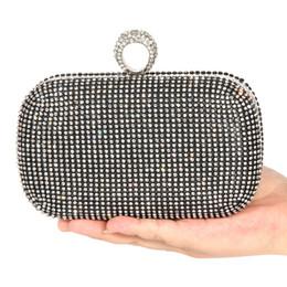 $enCountryForm.capitalKeyWord Australia - Evening Bags Women Clutch Bags Lady Wedding Rhinestones Handbags Silver Gold Black Diamond Inlay Ring Chain Party Clutch