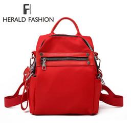 Back Packs Teenager Australia - Herald Fashion Women Backpack Causal Nylon Back Pack High Quality Female Shoulder Bag School Backpacks For For Teenagers Girls